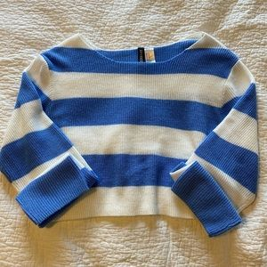 striped & cropped sweater